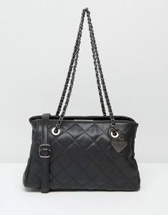 Стеганая сумка на плечо Marc B Kate - Черный