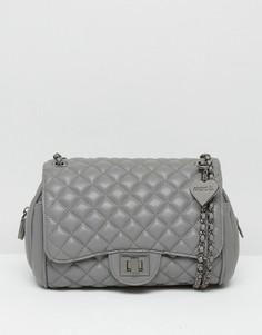 Стеганая сумка на плечо Marc B Knightsbridge - Серый