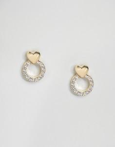 Серьги-гвоздики с кристаллами Limited Edition - Золотой Asos