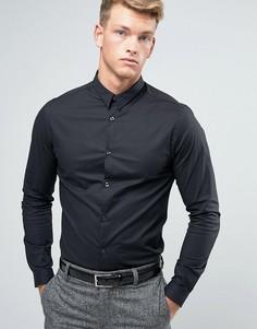 Черная строгая рубашка узкого кроя New Look - Черный