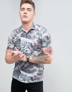 Рубашка с цветочным принтом Brooklyn Supply Co - Черный
