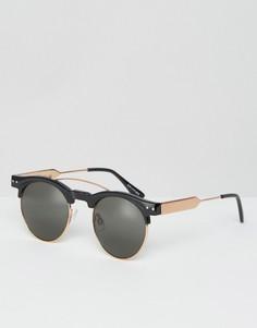Солнцезащитные очки в стиле ретро Spitfire - Черный