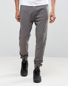 Светло-серые джоггеры с молниями New Look - Серый