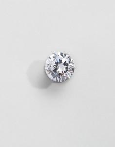 Серьги-гвоздики ограниченной серии с камнем 12 мм - Серебряный Asos