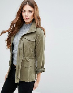 Легкая куртка с воротником-трубой Blend She Marie - Зеленый