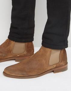 Замшевые ботинки челси Walk London - Бежевый