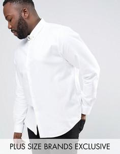 Строгая рубашка скинни Noose & Monkey PLUS - Белый