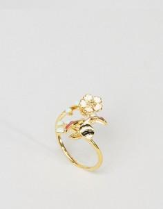Незамкнутое кольцо Божья коровка ограниченной серии - Красный Asos