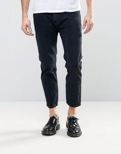 Черные выбеленные укороченные джинсы Rollas Stubs - Черный