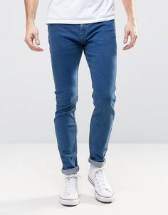 Синие супероблегающие джинсы с заниженной талией Rollas Stinger - Синий