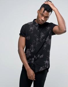 Рубашка с принтом Rollas - Черный