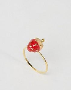 Кольцо ограниченной серии с клубникой - Золотой Asos
