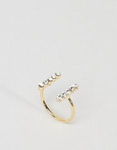 Незамкнутое кольцо ограниченной серии с камнями - Золотой Asos
