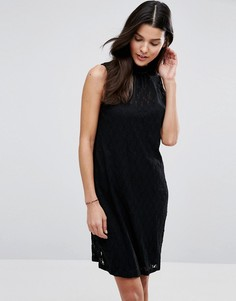 Кружевное платье с высокой горловиной Blend She Lizzy - Черный