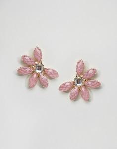 Серьги-гвоздики ограниченной серии с камнями - Розовый Asos