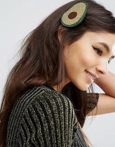 Блестящая заколка для волос ограниченной серии с дизайном авокадо - Мульти Asos