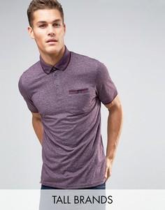Меланжевая футболка-поло Ted Baker TALL - Фиолетовый