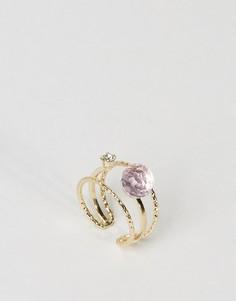 Кольцо ограниченной серии с камнями Princess - Золотой Asos