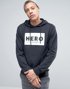 Худи с логотипом Heros Heroine - Черный