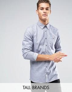 Фланелевая рубашка узкого кроя в строгом стиле Ted Baker TALL - Серый