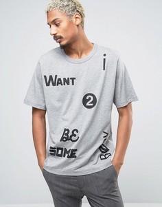 Свободная футболка Cheap Monday Want - Серый