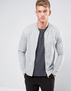 Стеганая куртка-пилот Jack & Jones Premium - Серый