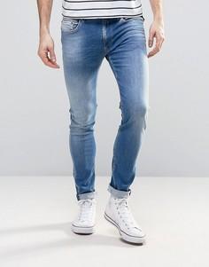Светлые джинсы скинни Replay Jondrill - Синий