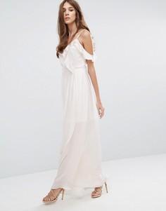 Платье макси с оборками Vero Moda Tessa - Белый