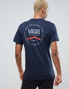 Синяя футболка Vans Original Rubber Co VA2XCSNVY - Синий
