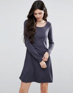 Приталенное платье с длинными рукавами Vila - Синий