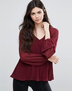 Плиссированная блузка Vila - Фиолетовый