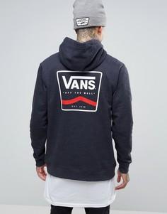 Черное худи с принтом на спине Vans VA2WFIBHH - Черный