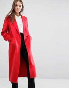 Строгое пальто Selected - Красный