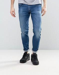 Темные узкие джинсы Replay Anbass - Синий