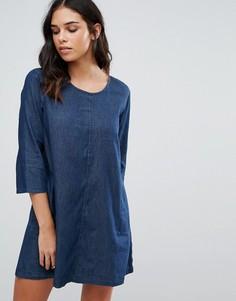 Цельнокройное джинсовое платье QED London - Синий