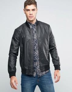 Перфорированная куртка-пилот из искусственной кожи Wrangler - Черный