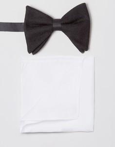Галстук-бабочка и платок для нагрудного кармана ASOS - Мульти