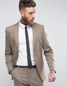 Пиджак зауженного кроя Selected Homme - Коричневый