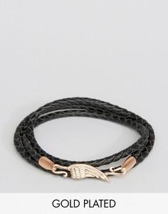 Кожаный браслет Simon Carter - Черный