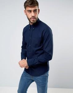 Узкая рубашка цвета темного индиго с воротником на пуговицах Wrangler - Темно-синий