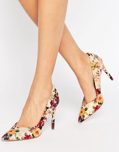 Туфли на каблуке с цветочным принтом Little Mistress - Мульти