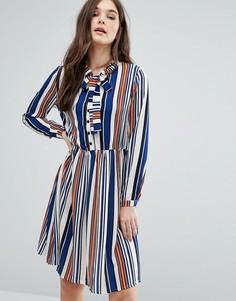 Платье-рубашка в полоску QED London - Синий