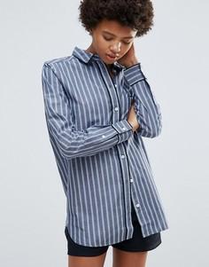 Рубашка в полоску Ganni Sophie - Синий