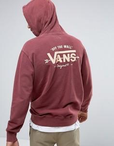 Красное oversize-худи Vans Off The Wall VA2WFK4QU - Красный