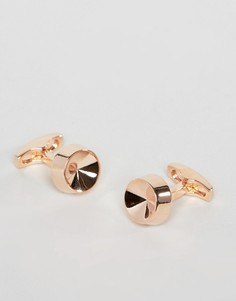 Запонки цвета розового золота Simon Carter - Золотой