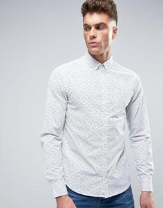 Узкая рубашка с принтом Blend - Белый