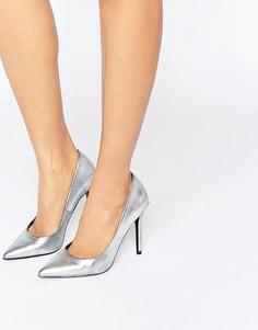 Туфли-лодочки цвета металлик ShoeLab - Серебряный