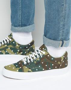 Зеленые кроссовки с камуфляжным принтом Vans Old Skool VA31Z9LWA - Зеленый