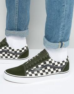 Зеленые кроссовки к 50 годовщине Vans Old Skool VA31Z9LVJ - Зеленый