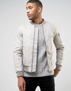 Куртка-пилот песочного цвета New Look MA1 - Stone